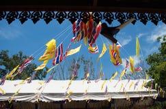 绳索、旗子和泰国的旗子 免版税库存照片