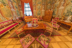 从18。分的罗马交谊厅。在宫殿圣徒安东 免版税库存照片