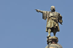 ・克里斯托弗哥伦布日雕象 免版税库存照片
