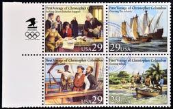 ・克里斯托弗哥伦布第一次远航  免版税库存照片