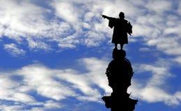 ・克里斯托弗哥伦布雕象 库存图片