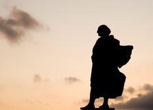 ・克里斯托弗哥伦布雕象 免版税库存照片
