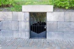 一个上锁的门在哥特人市 免版税库存照片