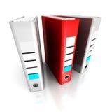 一个不同红色圆环包扎工具文件夹 到达天空的企业概念金黄回归键所有权 免版税库存照片