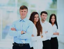 一个专业企业队的小组画象 免版税图库摄影