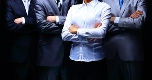 一个专业企业队的小组画象 免版税库存照片