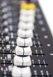 一个专业混合的控制台的细节 免版税图库摄影