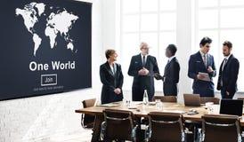 一个世界和平连接关系互联概念 免版税库存图片