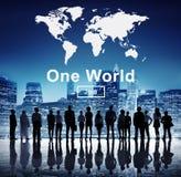 一个世界和平连接关系互联概念 库存图片