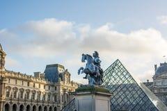 巴黎一个中央地标  免版税库存照片