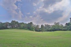 一个乡村俱乐部高尔夫球场在香港 免版税库存图片