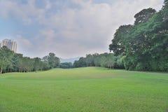 一个乡村俱乐部高尔夫球场在香港 库存图片