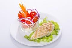 一个了不起的图的可口食物 免版税库存照片