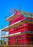 一个二层楼的房子的侧视图建设中 库存图片