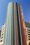 一个五颜六色的现代设计大厦在城市 图库摄影
