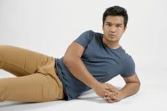 一个亚裔人的画象 免版税图库摄影