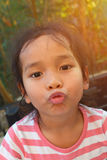 一个亚洲孩子的画象 免版税库存照片