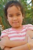 一个亚洲孩子的画象 库存照片