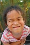 一个亚洲孩子的画象 库存图片