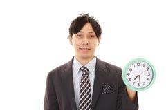 一个亚洲生意人的纵向 免版税库存照片