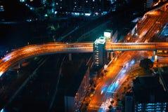 一个交叉点的鸟瞰图在大阪 库存照片