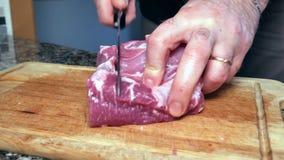 一个人切猪肉 影视素材