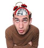 一个人和他的头脑的头。 免版税库存图片