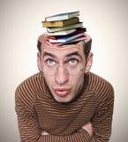 一个人和他的头脑的头。 免版税库存照片