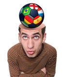 一个人和他的头脑的头。 免版税图库摄影