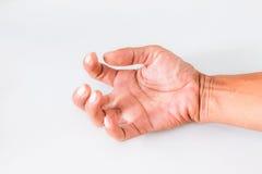 一个人的手 免版税库存图片