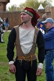 一个人的画象历史服装的 免版税图库摄影
