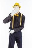一个人的画象,演员,手势,显示他空的口袋 图库摄影