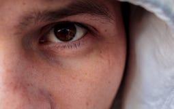 一个人的眼睛 库存图片