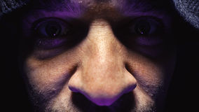 一个人的眼睛 免版税图库摄影