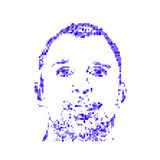 一个人的面孔 免版税库存照片