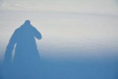 一个人的阴影 图库摄影
