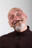 一个人的画象有的滑稽的表情 免版税库存图片