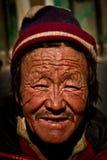 一个人的画象从西藏的 免版税图库摄影