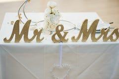 一个令人难忘的婚礼的难忘的标志 库存照片