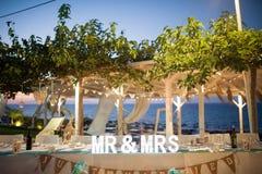 一个令人难忘的婚礼的难忘的标志 免版税库存照片