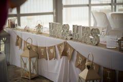 一个令人难忘的婚礼的难忘的标志 免版税库存图片