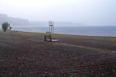 一个伟大的智利湖的看法 免版税图库摄影