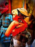 一个传统巽他人手工制造木木偶,命名未知数 免版税库存照片
