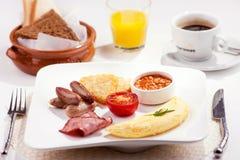 一个传统早餐 库存图片