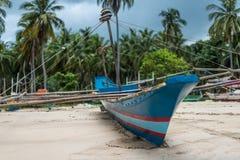 一个传统菲律宾渔船 库存图片