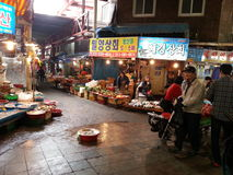 一个传统市场在釜山 免版税图库摄影