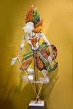 一个传统牵线木偶Wayang Kulit或阴影木偶 库存照片