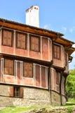 一个传统老房子在从时间的Koprivshtitsa保加利亚, 库存图片