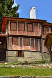 一个传统老房子在从时间的Koprivshtitsa保加利亚, 免版税图库摄影