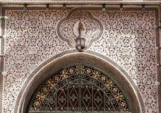 一个传统门,摩洛哥的细节 免版税图库摄影